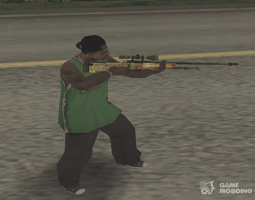 AWP Dragon Lore for GTA San Andreas