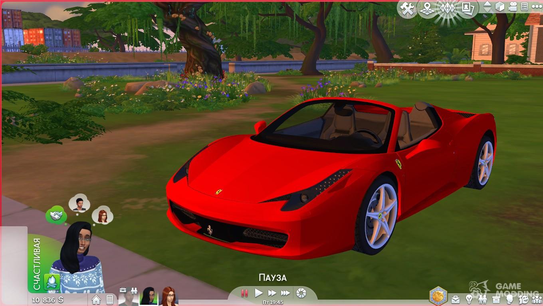 Скачать мод на sims 4 на машины