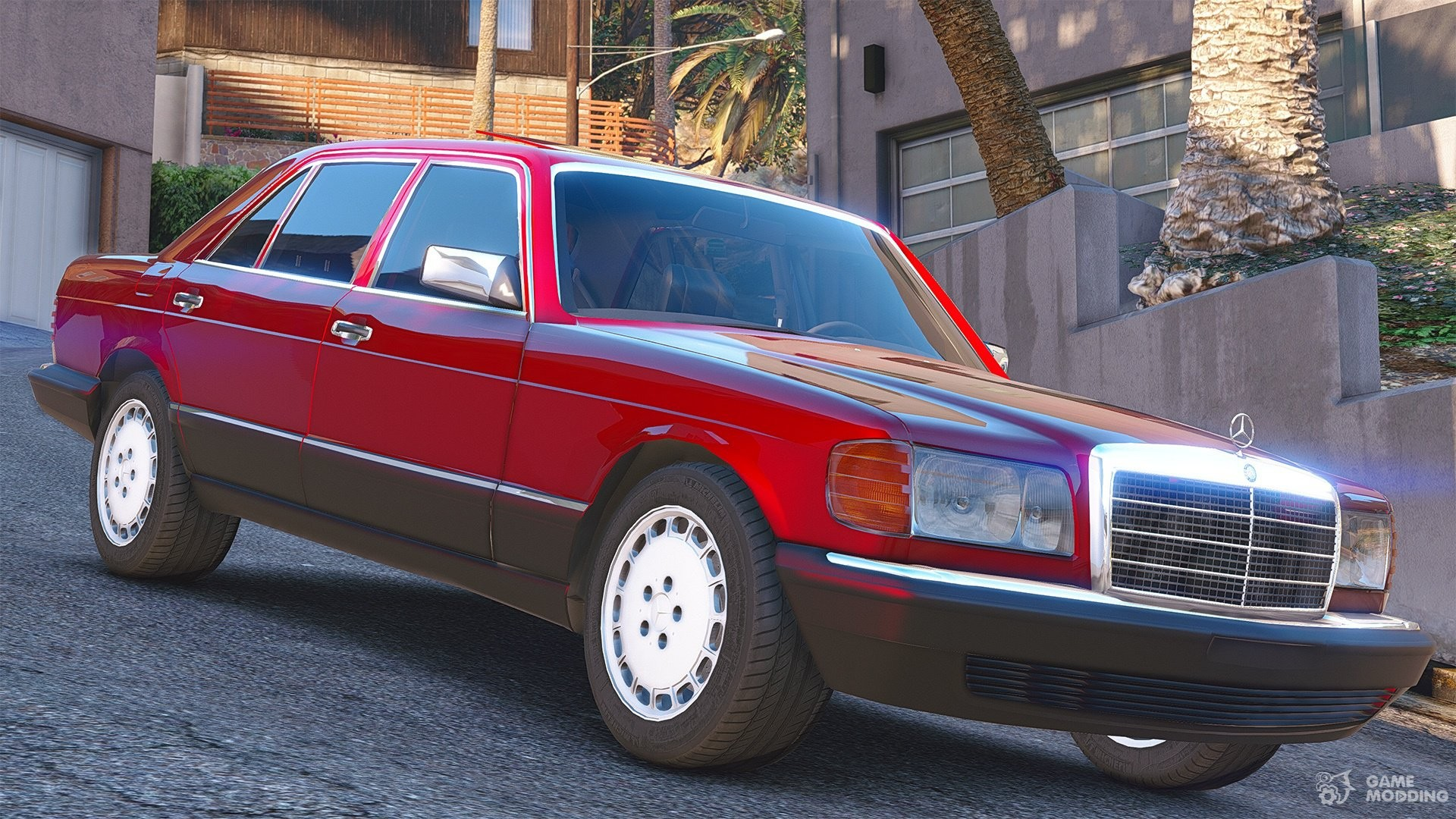 1990 mercedes benz 560sel w126 1 1a for gta 5 rear left view