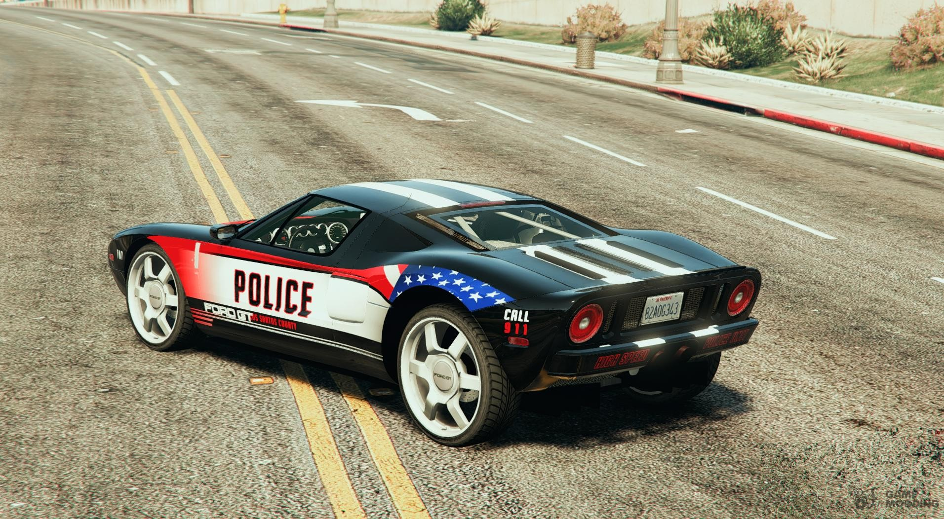 Ford Gt Police Car For Gta  Left View