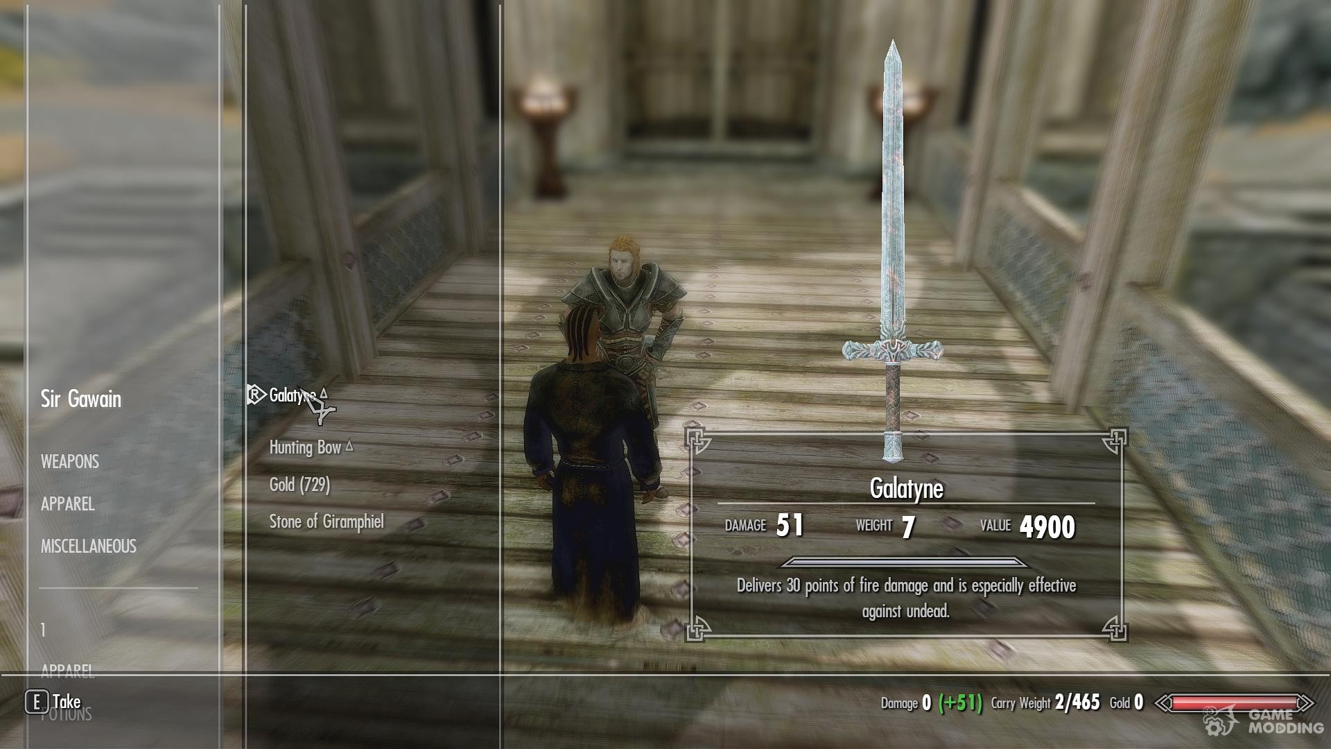 Sir Gawain Follower Mod for TES V: Skyrim
