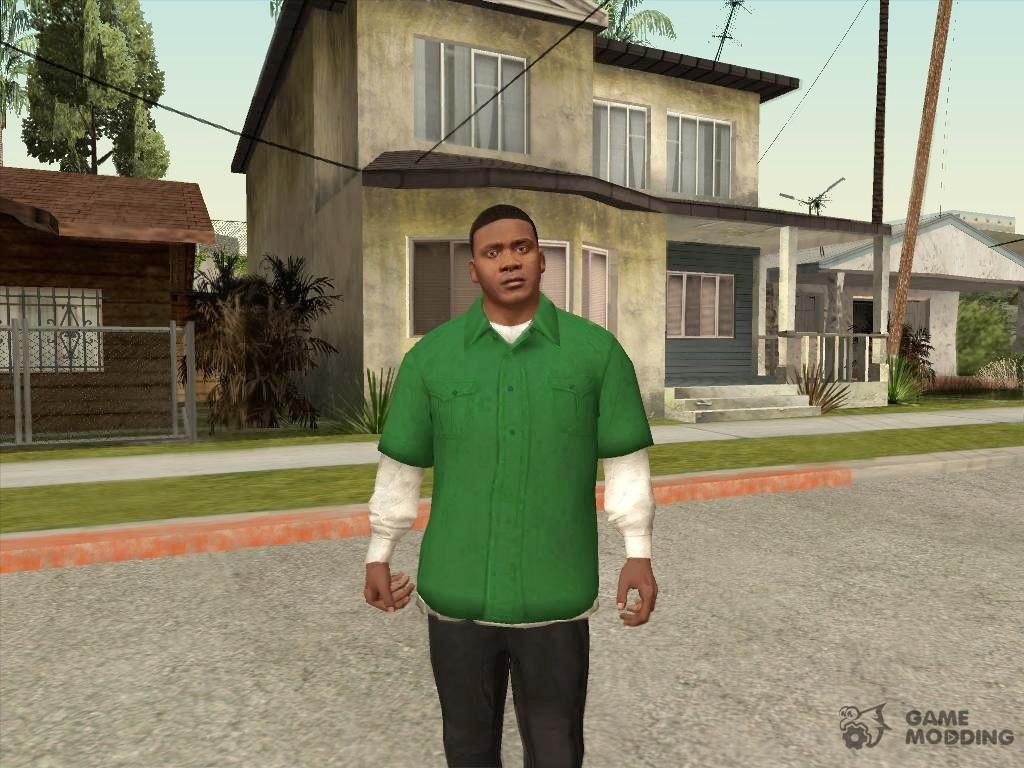 Franklin Green T-shirt for GTA San Andreas