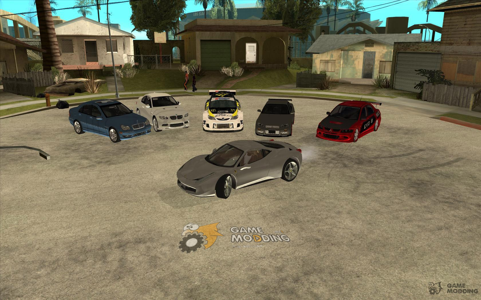 First Car-pack with autoinstallation for GTA San Andreas