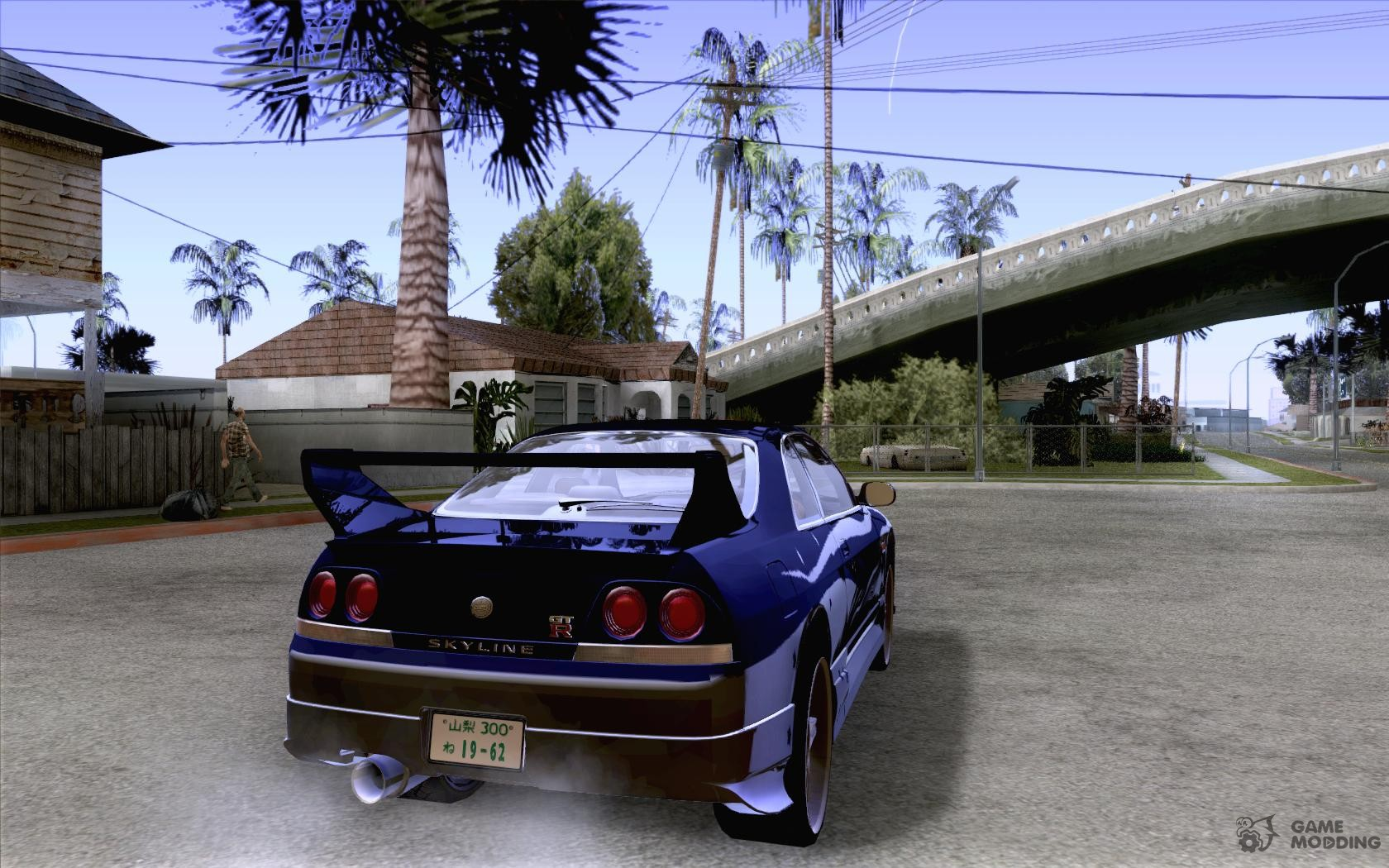 Nissan skyline r33 tokyo drift for gta san andreas top view