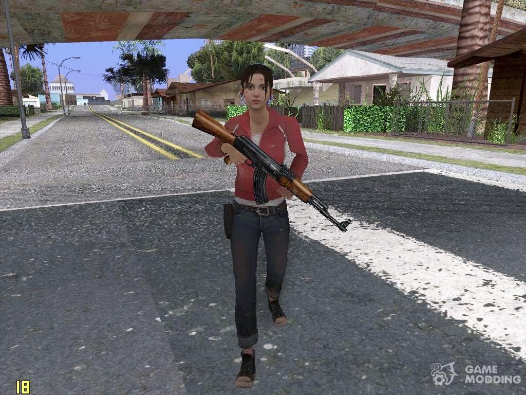 Louis from Left 4 Dead Beta para GTA San Andreas