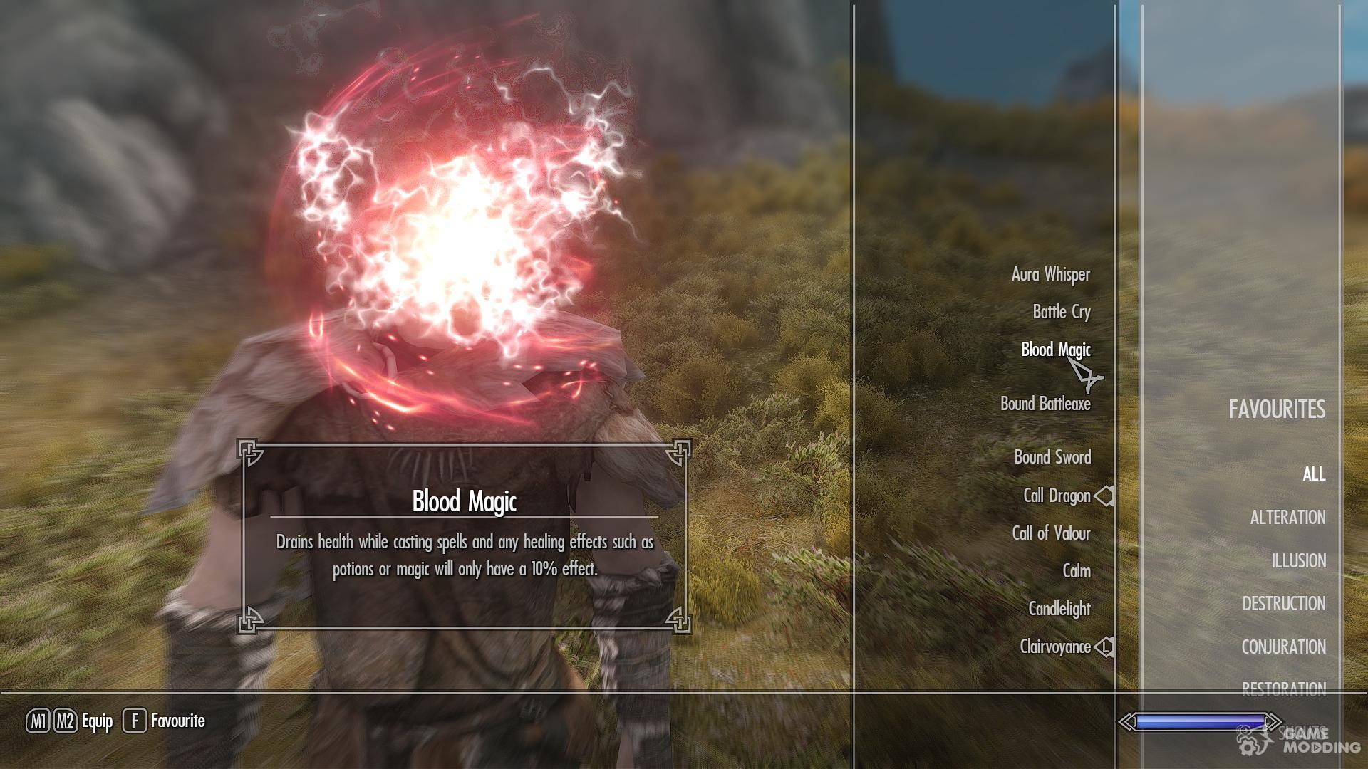 dragon age origin blood magic for tes v skyrim