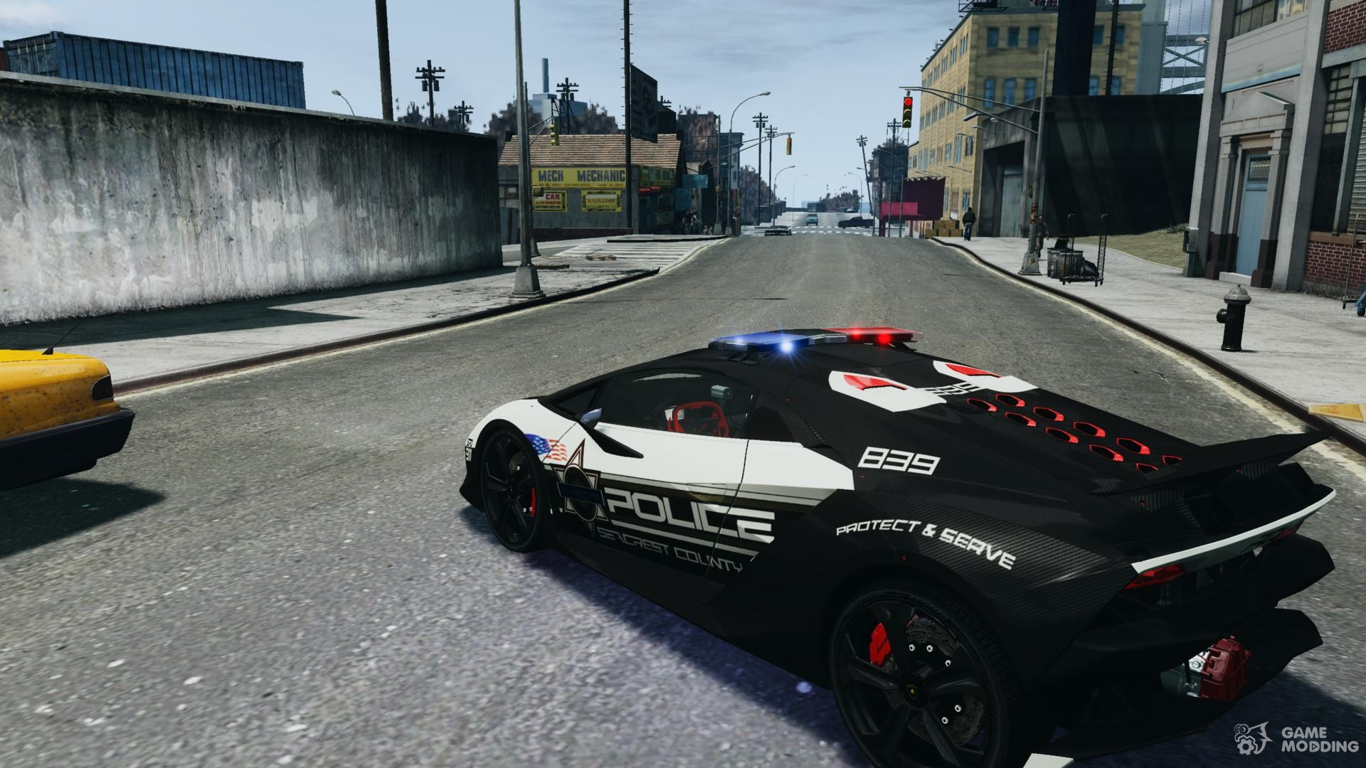 Lamborghini Sesto Elemento 2011 Police V1.0 For GTA 4 Rear Left View