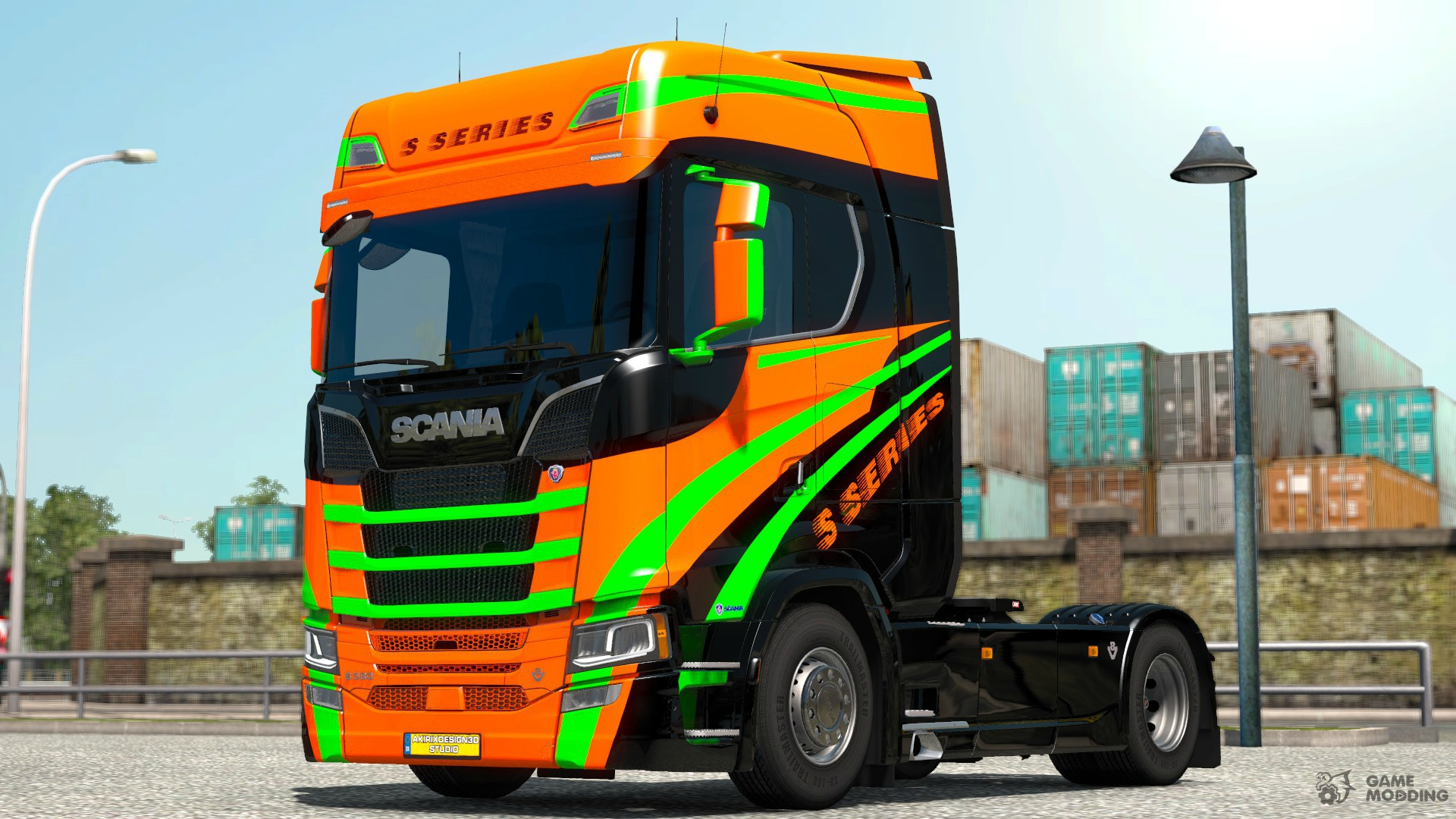 s series for scania s580 for euro truck simulator 2. Black Bedroom Furniture Sets. Home Design Ideas