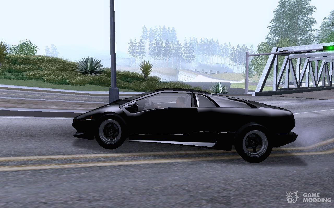 Lamborghini Diablo VTTT Black Revel for GTA San Andreas