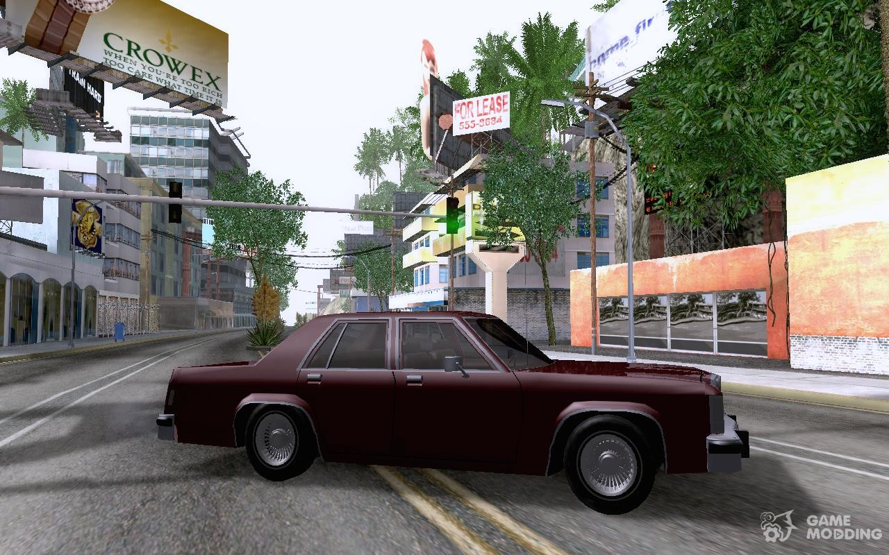 Ford crown victoria ltd 1985 for gta san andreas inside view