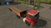 Trailer for pallets and bales startup