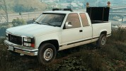 GMC Sierra 1992 (Construction Pickup with flashing orange lights)