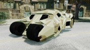 Batman Tumbler Army HQ Retextured