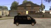 VW Transporter T5 2.5 TDI long для GTA San Andreas миниатюра 5