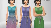 Romantic Nice Dress for Sims 4 miniature 3