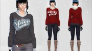 Winter Pullover for Sims 4 miniature 4