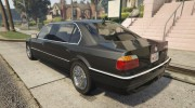 BMW L7 - 750IL E38 for GTA 5 miniature 3
