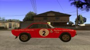 Lancia Fulvia Rally Marlboro for GTA San Andreas miniature 5