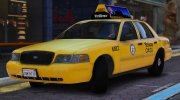 2011 Ford Crown Victoria LA Taxi for GTA 5 miniature 1