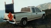 GMC Sierra 1992 (Construction Pickup with flashing orange lights) for GTA 5 miniature 3