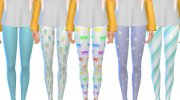 Pastel Themed Leggings for Sims 4 miniature 1