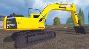 Komatsu PC 210 LC для Farming Simulator 2015 миниатюра 5