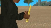 Butterfly Knife (Gold) for GTA San Andreas miniature 2