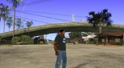 CJ в футболке (Bounce FM) for GTA San Andreas miniature 3