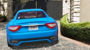 2010 Maserati GranTurismo S for GTA 5 miniature 6