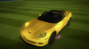 Chevrolet Corvette Grand Sport 2010 TT Black Revel for GTA Vice City miniature 8