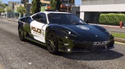 Ferrari F430 Scuderia Hot Pursuit Police для GTA 5 миниатюра 1