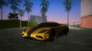 Koenigsegg Agera R 2013 for GTA Vice City miniature 1