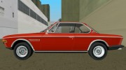BMW 3.0 CSL 1971 for GTA Vice City miniature 5
