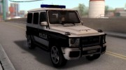 Mercedes-Benz G65 AMG BIH Police Car для GTA San Andreas миниатюра 8