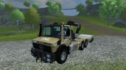 Mercedes-Benz Unimog crane devices Trailer for Farming Simulator 2013 miniature 1