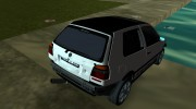 Volkswagen Golf 3 ABT VR6 Turbo Syncro for GTA Vice City miniature 10