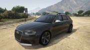 Audi RS4 Avant 2013 for GTA 5 miniature 1