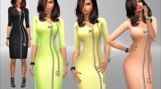 Zip Dress for Sims 4 miniature 2