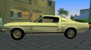 Shelby GT500KR 1968 for GTA Vice City miniature 4