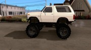 Ford Bronco Monster Truck 1985 for GTA San Andreas miniature 2