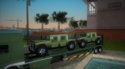 DAF XF 530 2002 Army for GTA Vice City miniature 7