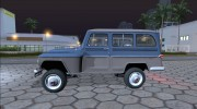Jeep Rural Willys 1961 для GTA San Andreas миниатюра 2