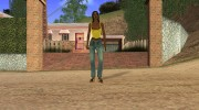 Country Girl Brunette T-Shirt для GTA San Andreas миниатюра 5