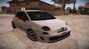 Fiat 500 Abarth 2008 for GTA San Andreas miniature 1