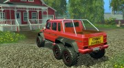 Mercedes G65 AMG 6x6 v.1 for Farming Simulator 2015 miniature 3