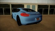 Porsche Cayman S 2014 for GTA Vice City miniature 3