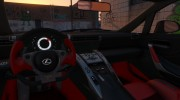 2010 Lexus LFA v1.3 for GTA 5 miniature 3