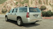 2015 Chevrolet Suburban (Unlocked) Final for GTA 5 miniature 3