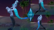 Couple pose - mermaids for Sims 4 miniature 1