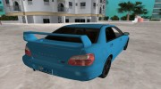 Subaru Impreza 2.0 WRX STI for GTA Vice City miniature 4